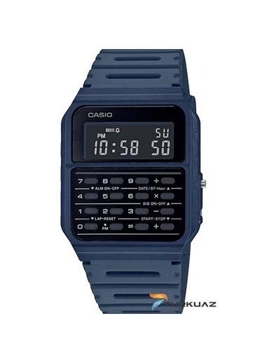 Casio Casio Ca-53Wf-2Bdf Hesap Makineli  Plastik Silikon Kayış  Kadran Su Geçirmez Erkek Dijital Kol Saati Siyah